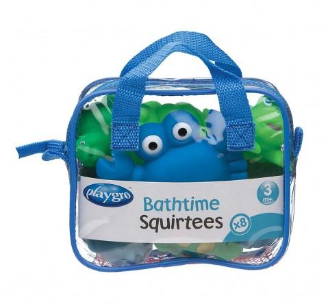Playgro Bathtime Squirtees 8Pk – Boy Version Bath Toys & Accessories for Kids Age 3Y+