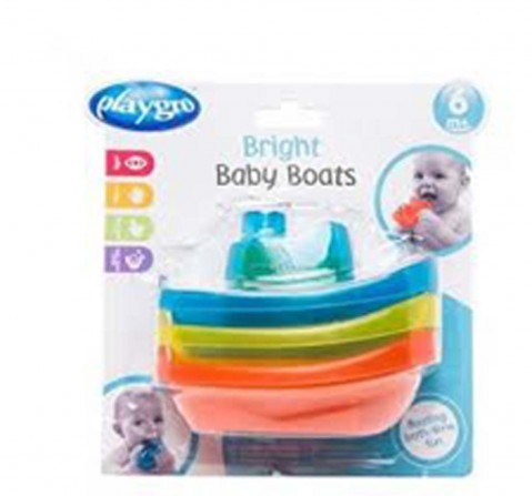 Playgro Bright Baby Bath Boats - Girl Bath Toys & Accessories for Kids Age 6Y+