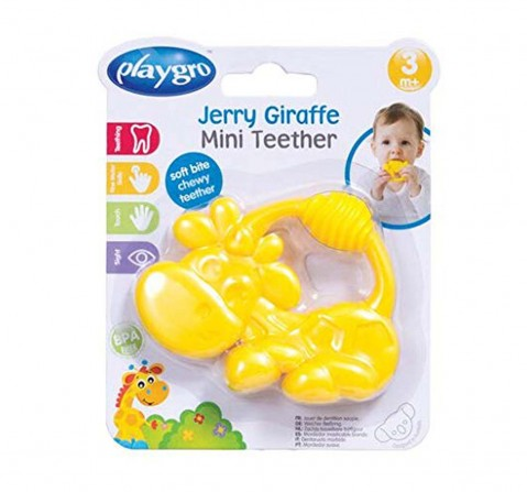 Playgro Jerry Giraffe Mini Teether New Born for Kids Age 6Y+