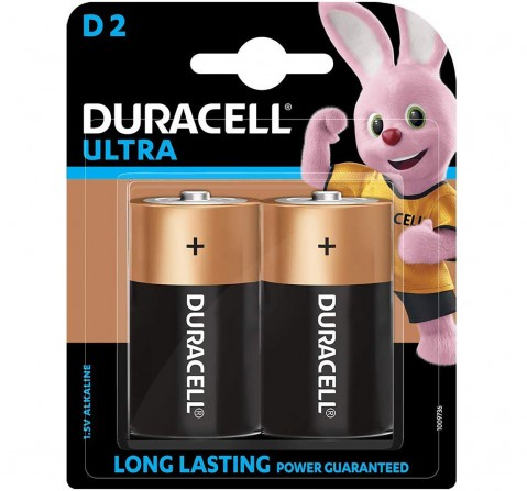 Duracell D Size Ultra Battery Essentials for Kids age 3Y+