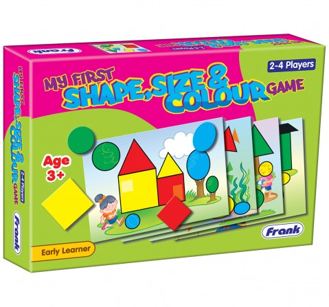 Frank My First Shape, Size And Colour Game Puzzles for Kids age 3Y+