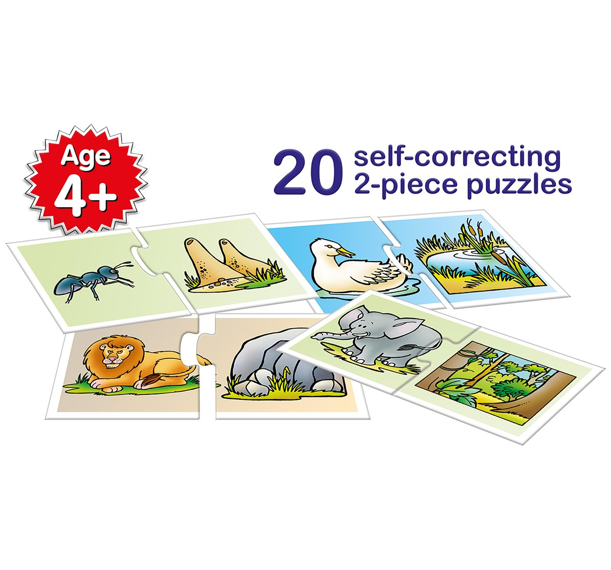 Frank Animal Homes Puzzles for Kids age 4Y+
