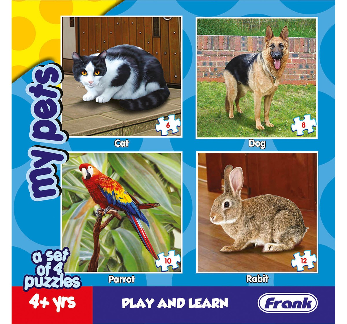 Frank My Pets Puzzle Puzzles for Kids age 4Y+