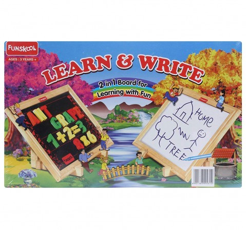 Giggles Funskool Learn And Write Early Learner Toys for Kids age 3Y+ (White)