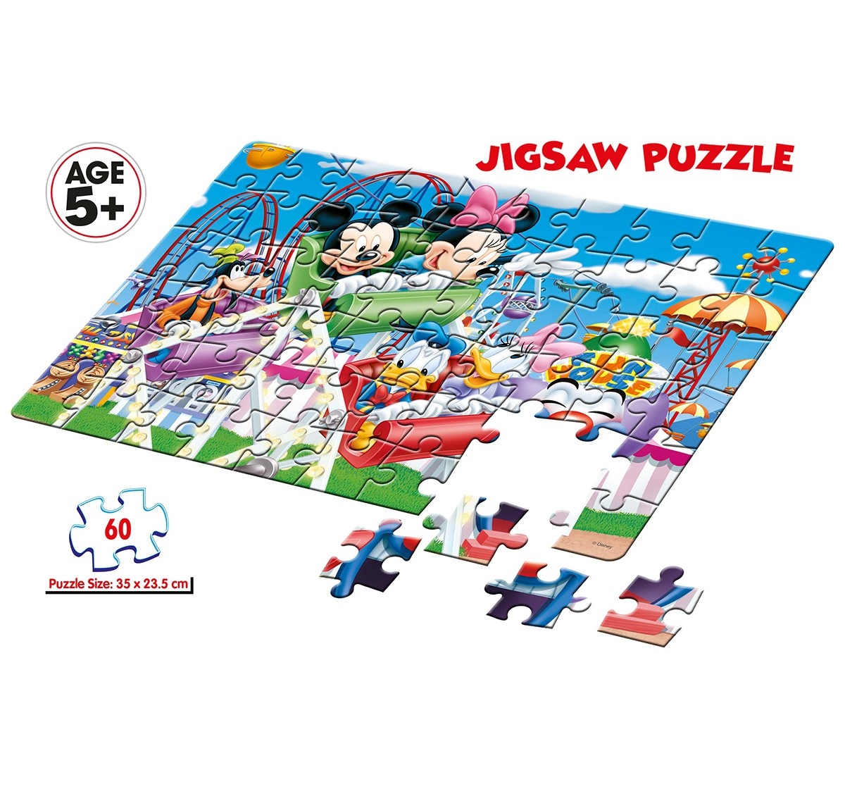 Disney  Frank Mickey Mouse On Joy Ride Puzzle  for Kids age 5Y+