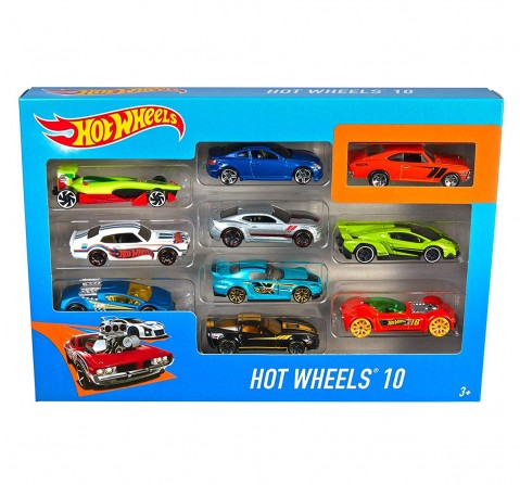 Hot Wheels Die Cast Cars Pack of 10 Vehicles for Kids age 3Y+