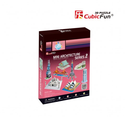 Cubic Fun Mini Architecture Series 2 Puzzles for Kids age 5Y+