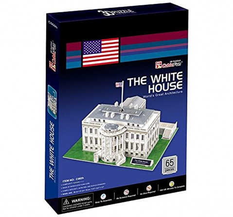 Cubicfun Frank 3D Puzzle The White House Puzzles for Kids age 6Y+ (White)