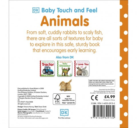 Baby Touch & Feel : Animals, 32 Pages Book by DK Children, Board Book