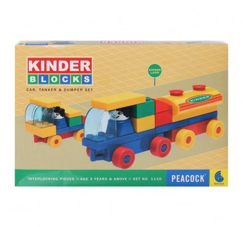 Peacock  Car Tanker And Dumper Set Generic Blocks for Kids age 3Y+