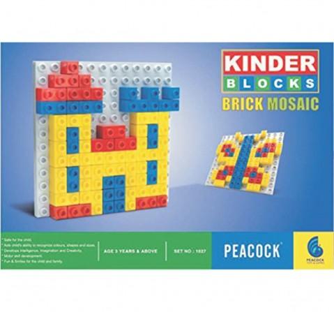 Peacock Toys Brick Mosaic, Unisex, 3Y+ (Multicolour)