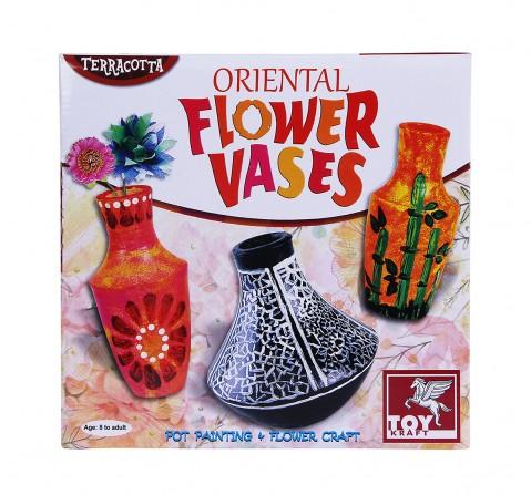 Toy Kraft Oriental Flower Vases DIY Art & Craft Kits for Kids age 8Y+