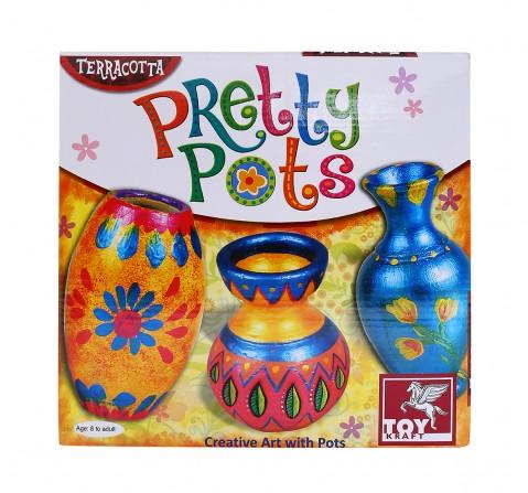 Toy Kraft Pretty Pots DIY Art & Craft Kits for Kids age 8Y+