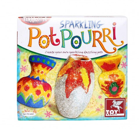 Toy Kraft Sparkling Pot Pourri DIY Art & Craft Kits for Kids age 8Y+