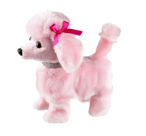 Hamleys Movers & Shakers - Pink Poodle Interactive Soft Toys for Kids age 2Y+ - 5 Cm (Pink)