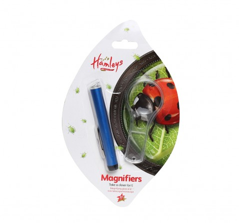 Hamleys Magnifiers Set 2 Pieces Science Equipments for Kids age 10Y+ (Blue)