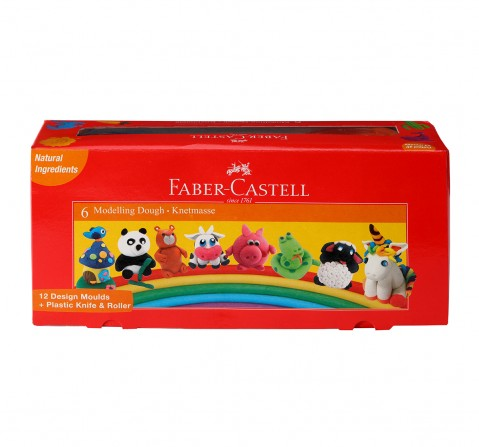 Faber-Castell Modelling dough 50gm pck-6 shades, 3Y+