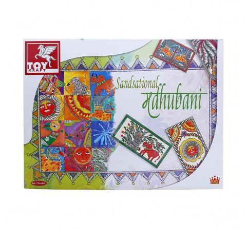Toy Kraft Sandsational Madhubani DIY Art & Craft Kits for Kids age 7Y+