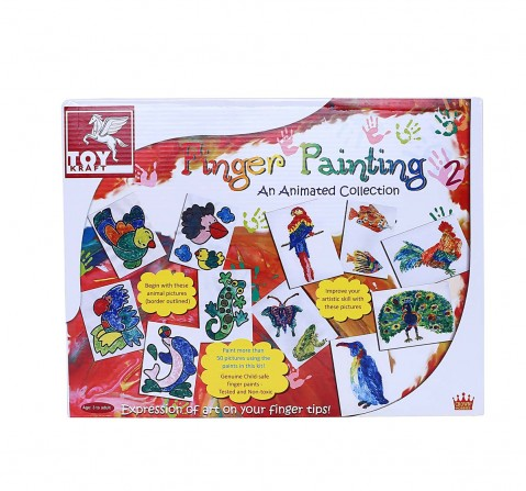 Toy Kraft Finger Painting Kit, 2 DIY Art & Craft Kits for Kids age 3Y+