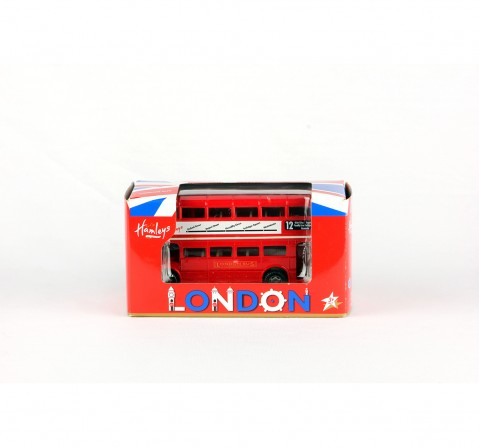 Hamleys London Double Decker Bus (Red) Vehicles for Kids age 3Y+ (Red)