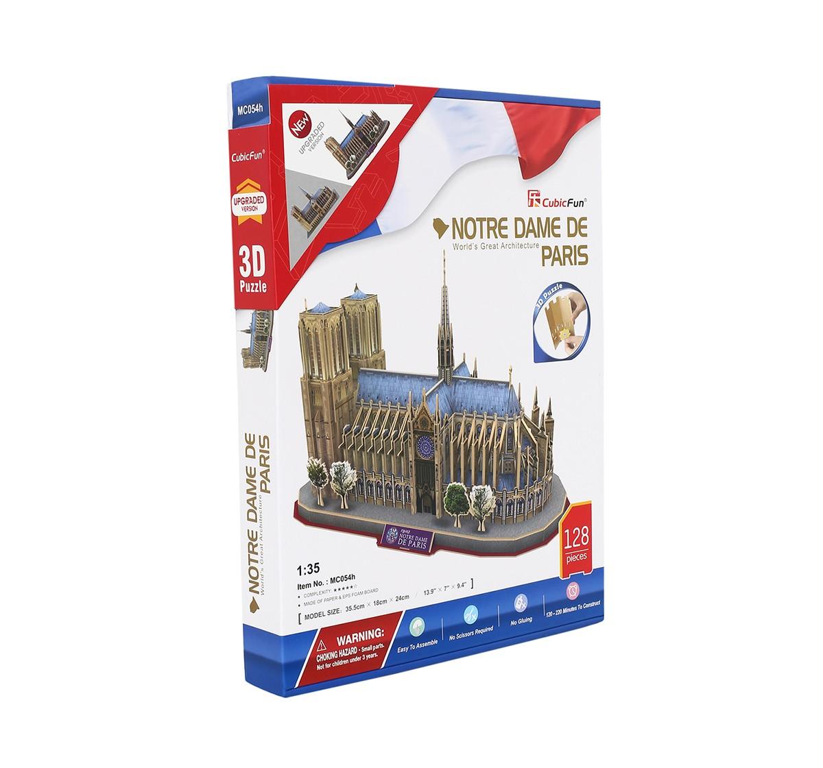 Cubic Fun Notre Dame De Paris, Multi Color Puzzles for Kids age 8Y+