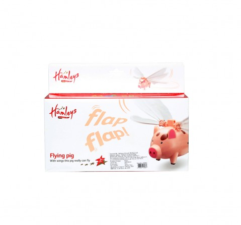 Hamleys Flying Pig Toy (Pink) Impulse Toys for Kids age 24M+ (Peach)