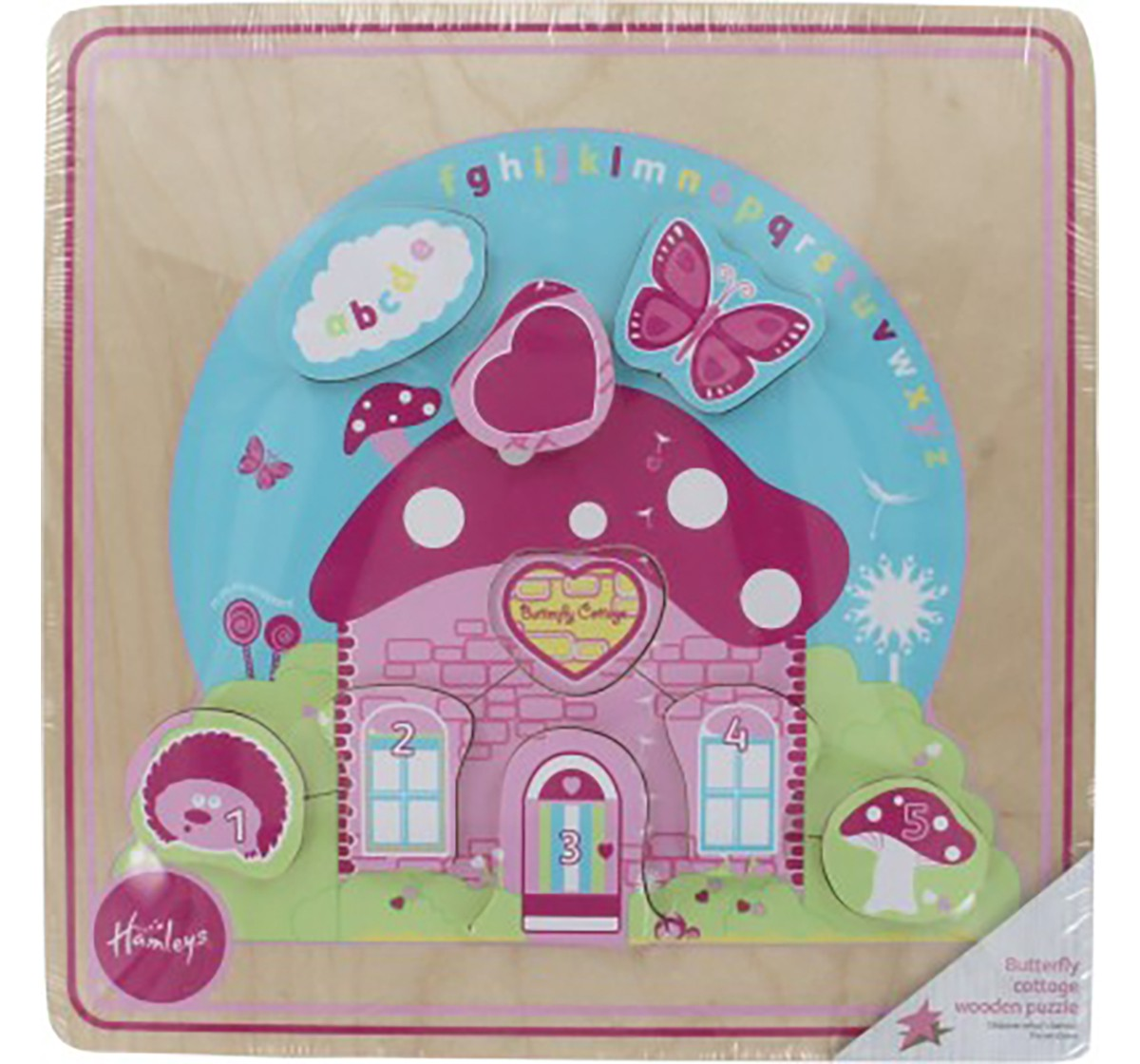 Hamleys Butterfly Cottage Wooden Puzzle Wooden Toys for Kids age 18M +
