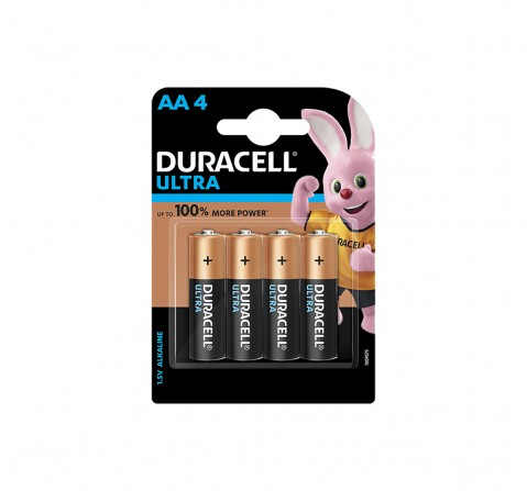 Duracell Alkaline AA Batteries - Pack of 4 Essentials for Kids age 3Y+