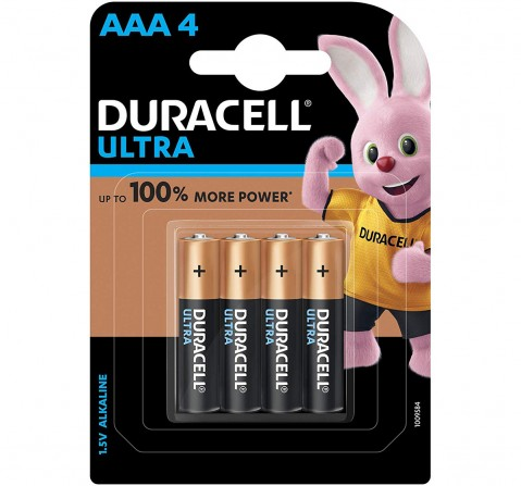 Duracell Alkaline AAA Batteries - Pack of 4 Essentials for Kids age 3Y+