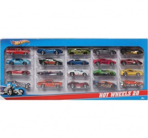 Hot Wheels Die Cast Cars Pack of 20 Vehicles for Kids age 3Y+