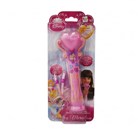 IMC Pink Disney Princess Recording Microphone Musical Toys for Kids age 3Y+