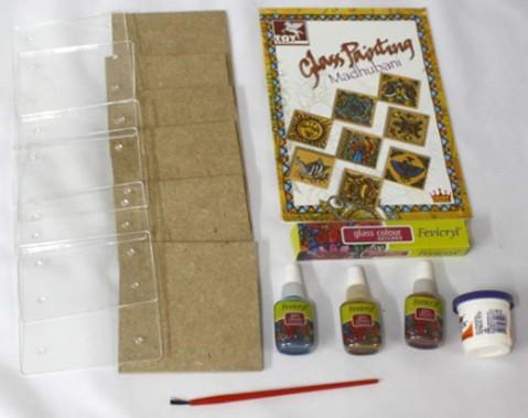 Toy Kraft Glass Painting Madhubani, Multicolor, 8Y+