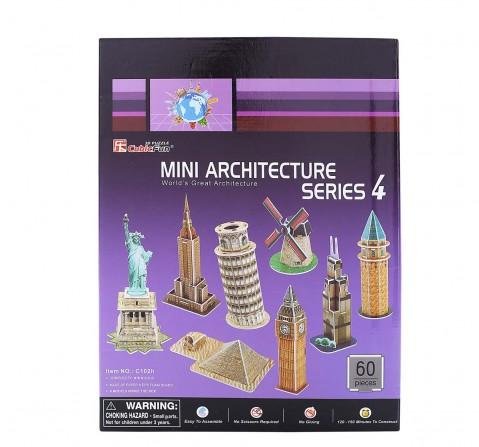 Cubicfun 3D Multi Color Puzzle - C Series Mini Architecture Series 4, for Kids age 3Y+