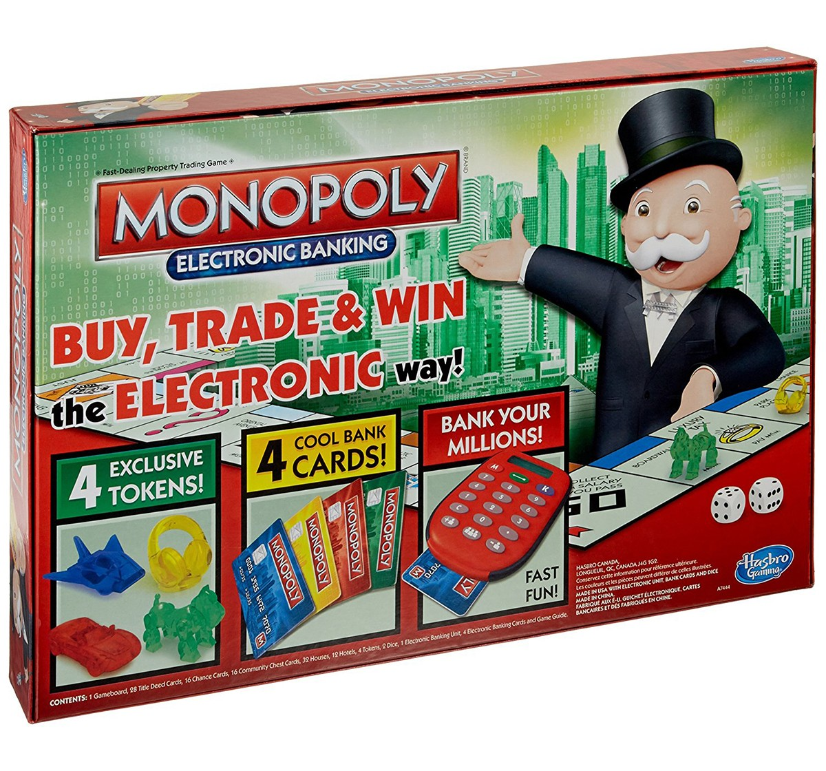 Hasbro Gaming Monopoly E-Banking Board Games for Kids age 8Y+