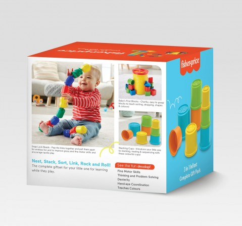 Fisher-Price 3-in-1 Infant Complete Giftpack  for Kids age 0M+