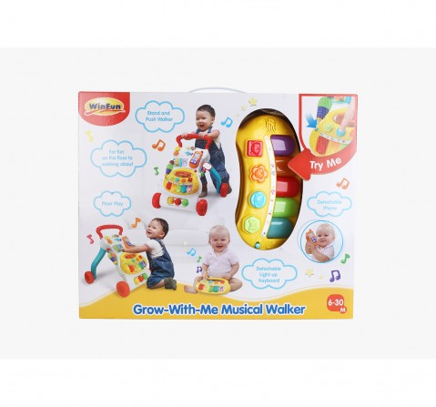 Winfun Nl Grow-With-Memusical Walker Baby Gear for Kids age 0M+