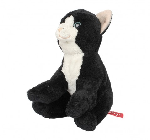 Hamleys Floppy  Black And White Cat Pet Animal With Beans Plush Soft Toy For Kids, age 2Y+ - 17 Cm (Black)