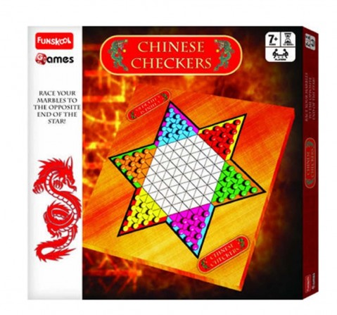 Funskool Chinese Checkers - Board Game Board Games for Kids Age 7Y+
