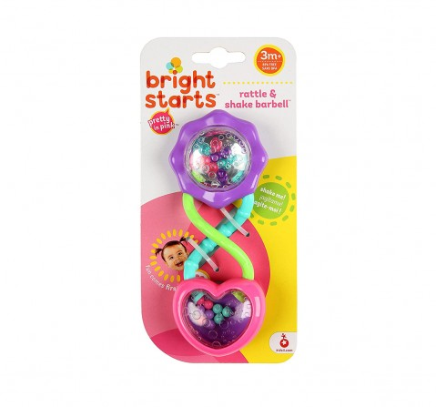 Kids Ii Bs Rattle & Shake Barbell - Purple Pink New Born for Kids Age 3Y+