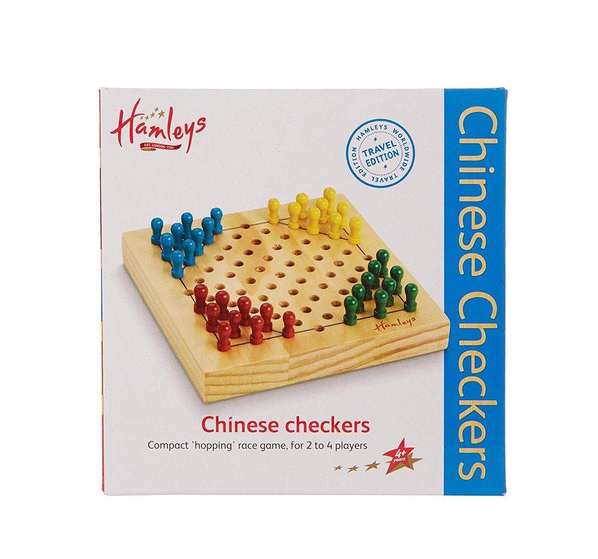 Hamleys Travel Chinese Checkers Game, Multi Color Board Games for Kids age 3Y+