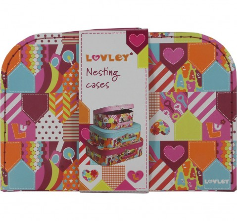 Luvley Set of 3 Nesting Suitcases Girls Accessories for Girls age 3Y+