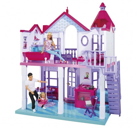 Steffi Love Big House Plastic Doll House & Accessories for Girls age 3Y+