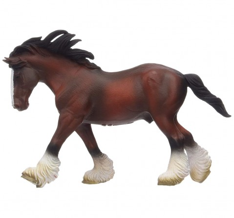 Collecta Clydesdale Stallion Bay (Brown) Animal Figure for Kids age 3Y+
