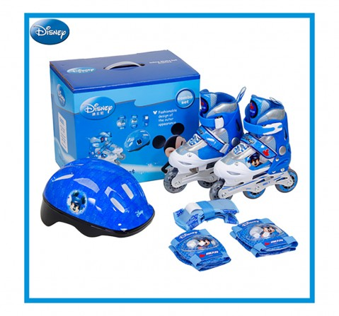 Disney Mickey Inline Skate Combo Set, Skates and Skateboards for Kids age 5Y+