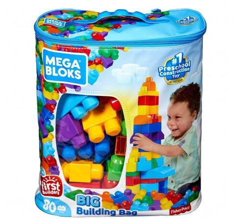 Mega Blocks First Builders Big Building Bag, Multicolor Toddler Blocks for Kids age 12M+