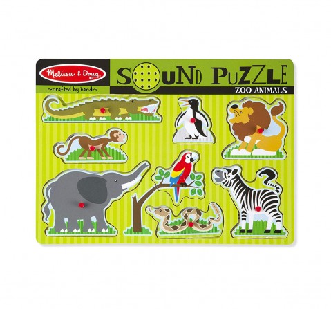 Melissa & Doug Zoo Animals Sound Puzzle Wooden Toys for Kids age 2Y+