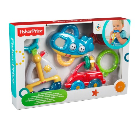 Fisher Price 3 In 1 Infant Deluxe Giftpack, Unisex, 0M+ (Multicolor)