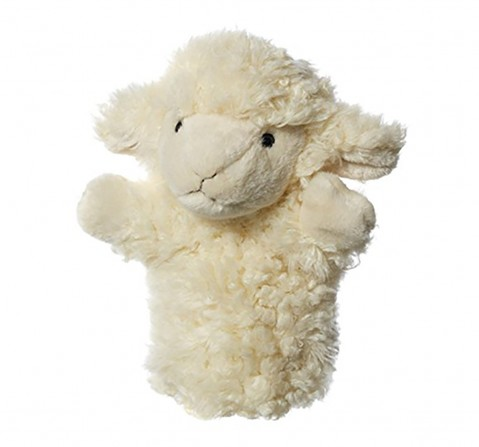 Hamleys Lamb Hand Puppet, Multi Color Dolls & Puppets for Kids age 3Y+ - 19 Cm (White)