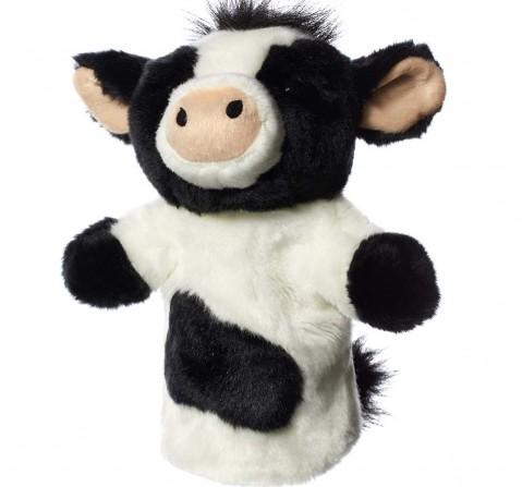 Hamley White/Black Cow Handpuppet Dolls & Puppets for Kids age 2Y+ 23 Cm