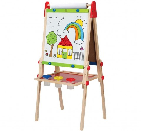 Hape Early Explorer All In 1 Easel - 6 Pieces Activity Table & Boards for Kids age 3Y+